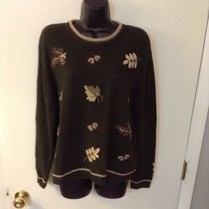 Christopher Banks embroidery sweater size XL